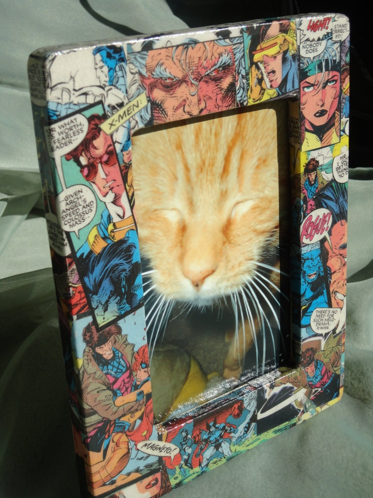 My new X-Men decoupaged photo frame. Perfect for that Dad or Grad!! Only $10.50 +sh. A must for any comic book lover.: Photo Frames, Comic Book, Decoupage Photo