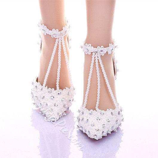 Pin these shoes Shoespie Lace Rhinestone T-Wrap Low Heel Bridal Shoes #Fashion, #Shoepie, #Womens http://www.fashion4shoes.com.au/shop/shoepie/shoespie-lace-rhinestone-t-wrap-low-heel-bridal-shoes/
