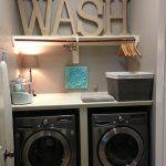 Minimalist Laundry Room Design Simple Minimalist Small Organized Laundry Room Design With Lovely