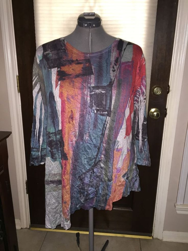 Women's Jess & Jane Casual Blouse Shirt Top Plus Size 1X Spun Poly #JessJane #Blouse #Casual