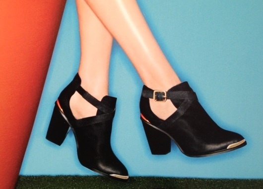 ALDO just hosted their spring preview for 2013. Cut-out booties are still going strong.