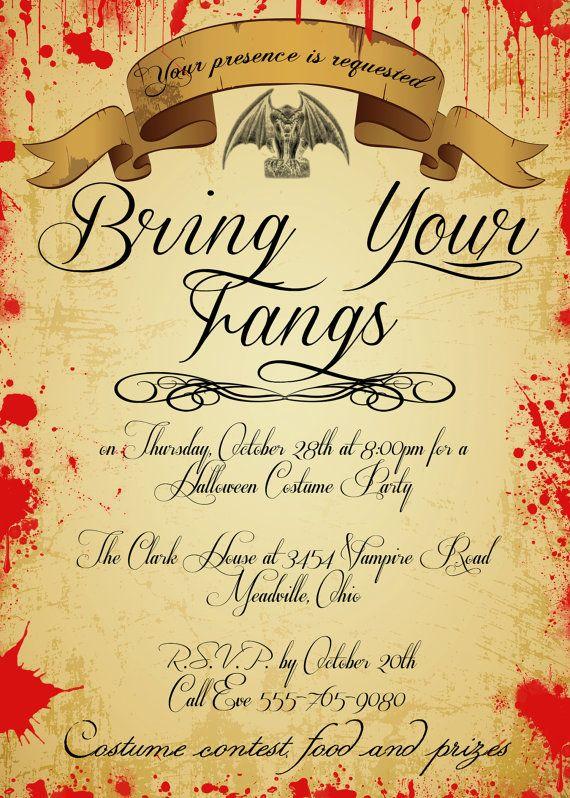 17 Best Ideas About Vampire Party On Pinterest Halloween