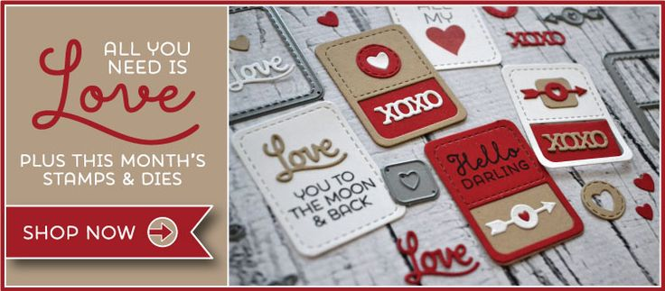 All You Need Is Love... and an ink pad and paper. Come see the January 2015 Memory Keepers Studio stamp set and Fresh Cut Studio steel dies from TechniqueTuesday.com.