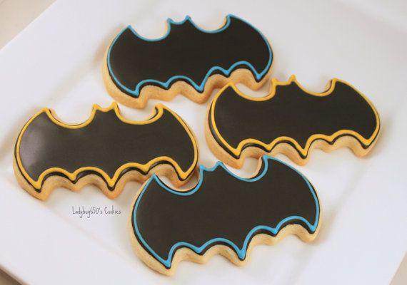 12 Batman cookies handmade & iced by ladybug650 on Etsy, $26.00