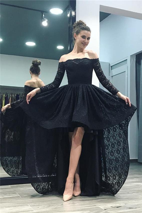 Dress barn long black lace dress