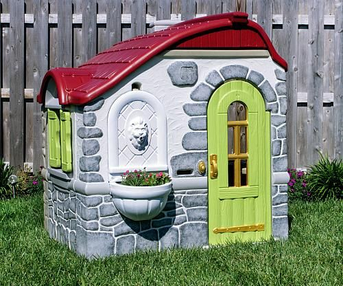 Revamped Plastic Playhouse | Give a plastic playhouse a facelift with Americana Decor Outdoor Living