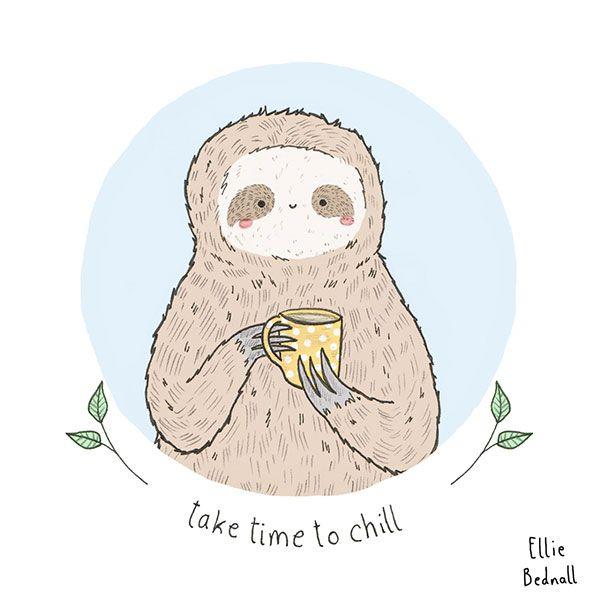 funny-sloth-tea-chill-mug
