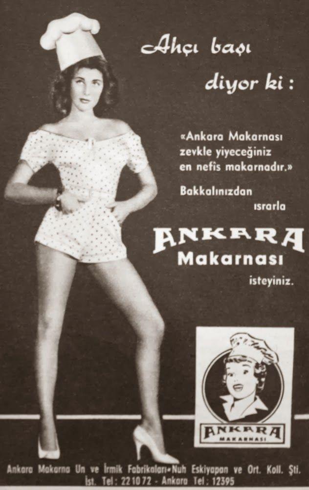 ankara makarnası 1957 nostaljik eski reklamlar