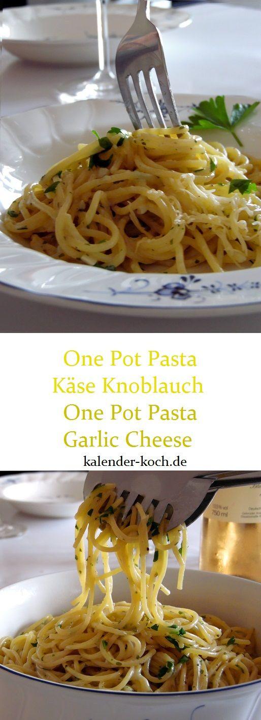 Schnell kochen mit One Pot Pasta Käse Knoblauch, ist ein super leckeres Pasta Gericht in weniger als 15 Minuten. Sahnig, Käsig und Lecker! Einfach Perfekt!