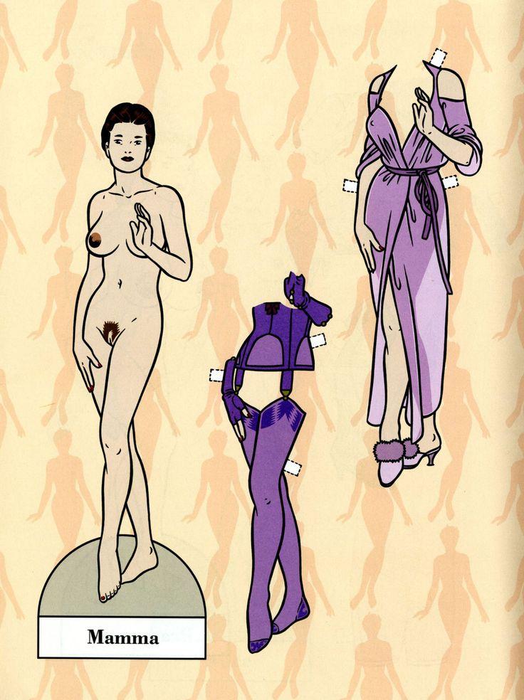 "Mamma and her clothes - Art by Roberto Baldazzini - Board ""Art - Roberto Baldazzini"""