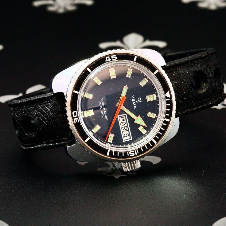 "197's YEMA ""Sous Marine"" Vintage Diving Auto D&D Watch Ref. 221214 Cal. FE 3612"