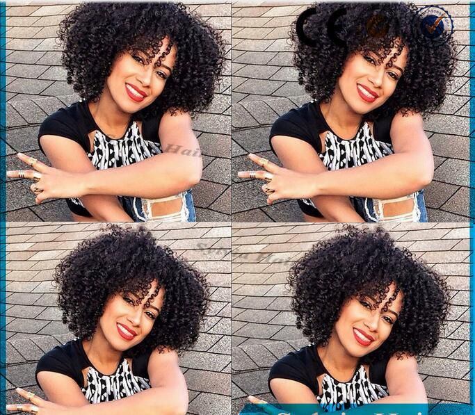 Legend Hair Naturak Black Short Afro Kinky Curly Hair Lace Front Wig For Black Women