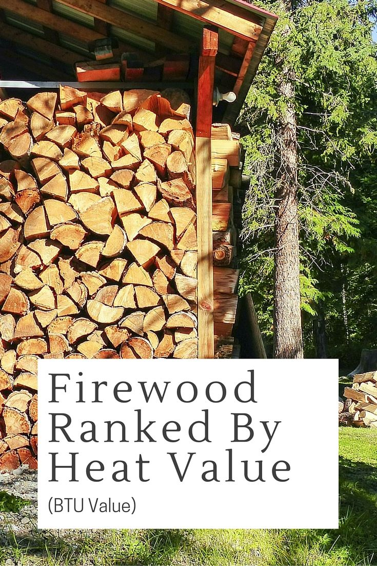 Firewood Ranked By Heat Value (BTU Value) - Did you know that one cord of wood burned as firewood provides the heat equivalent to that produced by burning 200 to 250 gallons of heating oil, depending on the type of hardwood you are using? That is why it is so important to stockpile the correct wood.