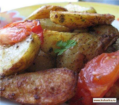 Мягкий, запеченный картофель в духовке..