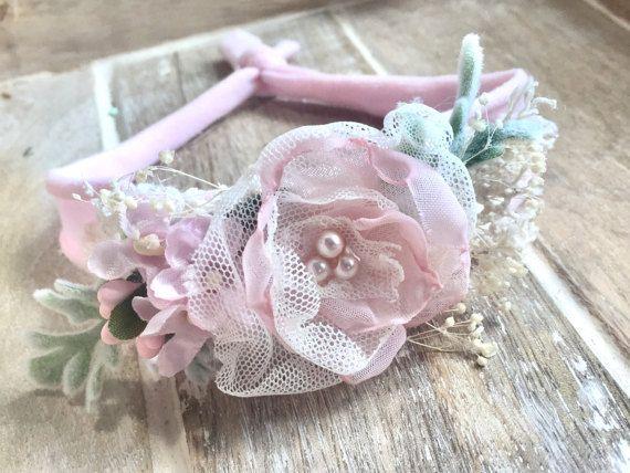Fotografía recién nacidos prop rosa recién por BowTweetBabies