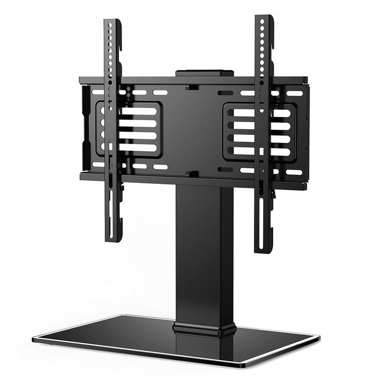 Fitueyes Universal TV Stand Base with Swivel mount Height Adjustable for 32 inch to 50 inch Flat screen TVS FTT104801GB. 10mm black tempered glass,Capacity for shelf:143 lbs, 198 lbs for mount,50*100*1.5mm iron tube with cable management system to hide the messy cable. The mount will fit most TVs from 50 to 80 inches in size and weight up to 198 pounds. To make sure this mount will fit insure your TV's VESA bolt pattern falls between these two sizes : 100(h)mm x 100(w)mm up to 500(h)mm x...