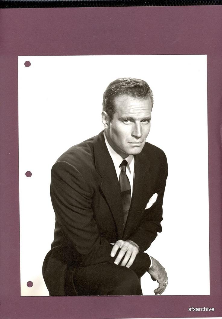 Vintage 1957 Actor Charlton Heston Dbl Weight Hollywood Portrait Photo