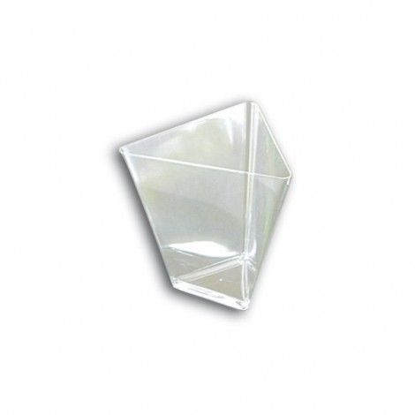 Verrine jetable transparente Triangle (x25)Verrine jetable transparente Triangle (x25)  Référence : G7040  Coupelle verrine jetable en Triangle 90cc Transparente, vendue par paquet de 25 verrines plastique 5,20€