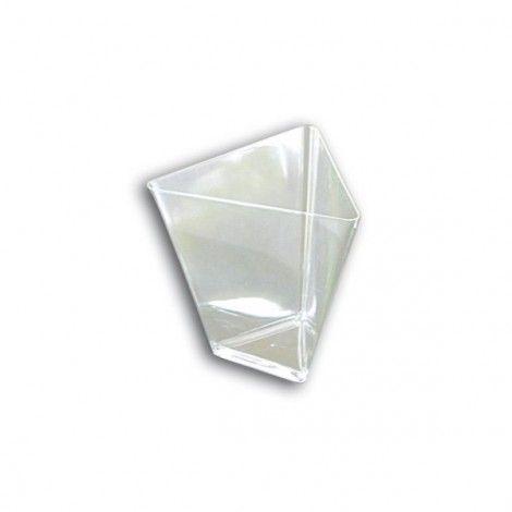 Verrine jetable transparente Triangle (x25)Verrine jetable transparente Triangle (x25)  Référence : G7040  Coupelle verrine jetable en Triangle 90cc Transparente, vendue par paquet de 25 verrines plastique 5,20€