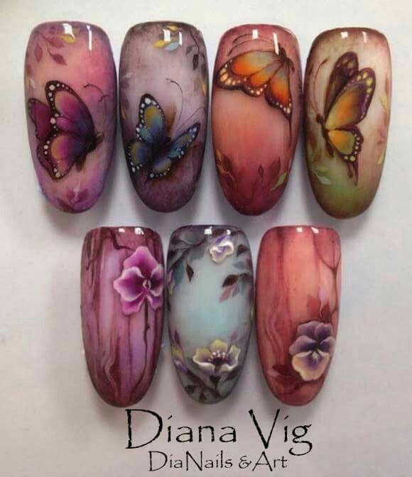 Diana Vig nails and art.