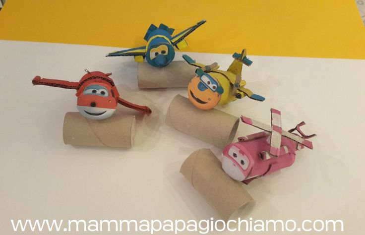 Super Wings #riciclo #paper roll #green