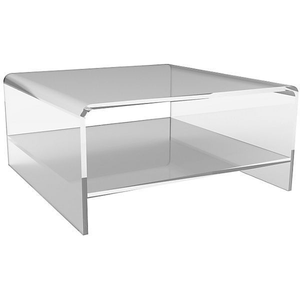 Waterfall Acrylic Coffee Table W/ Shelf Acrylic / Lucite Sofa Table (2 180  AUD