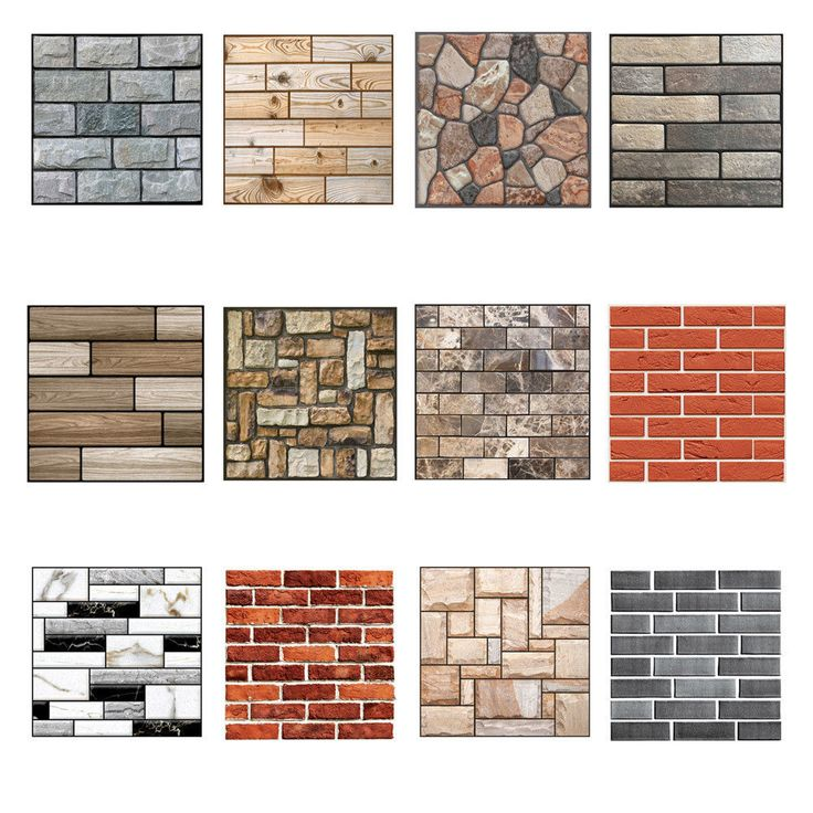 Details about 3D Wallpaper Wall Sticker Wall Decor Embossed Brick Simulation Tile Wall Sticker