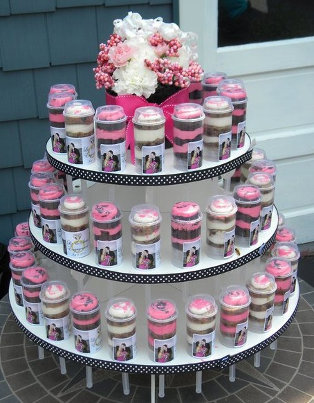 Elegant Wedding Tight Budget Cake Alternative PUSH POP TOWER DIY Do It Yourself Push Pop Containers And Stands Can Be Found On Both