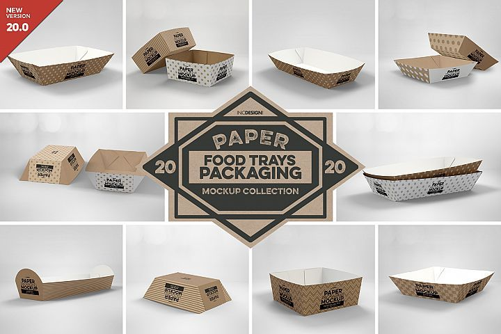 Download Vol 20 Paper Box Packaging Mockups Takeout Carrier Packaging Kraft Paper Cups Fries Wrap Li Packaging Mockup Design Mockup Free Free Packaging Mockup