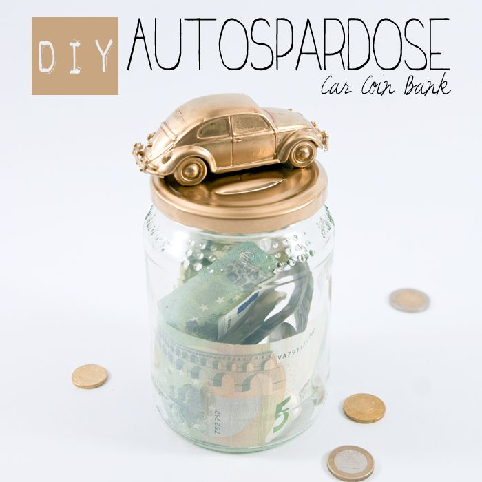 """Saving can be a challenge. Creating your own car coin bank might provide some extra motivation. Find out how it's done and  check out the collaborative board """"DIY bloggers for Volkswagen"""" for even more inspiration: https://www.pinterest.com/volkswagen/diy-bloggers-for-volkswagen"""