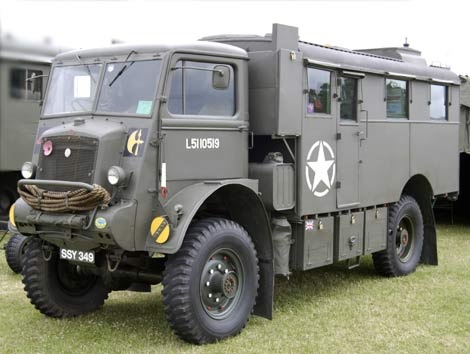 British Bedford Radio truck