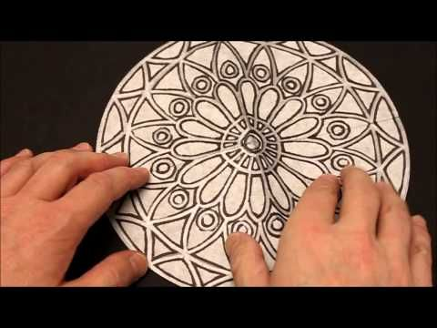 """United Art and Education Original Art Project: This project uses color diffusing paper and watercolor markers to emulate a beautiful """"Stained Glass"""" Rose Window. http://www.unitednow.com/product/10734/color-diffusing-paper-stained-glass-rose-window-project-109.aspx"""