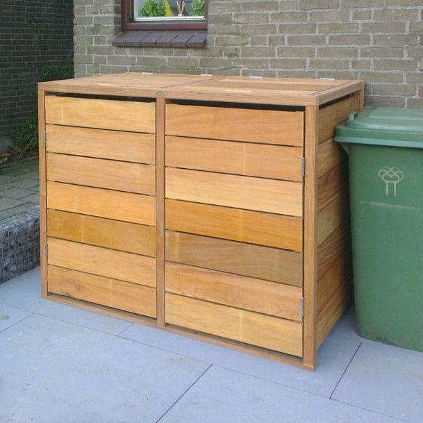 Kliko ombouw dubbeldeurs met deksels duurzaam FSC hardhout
