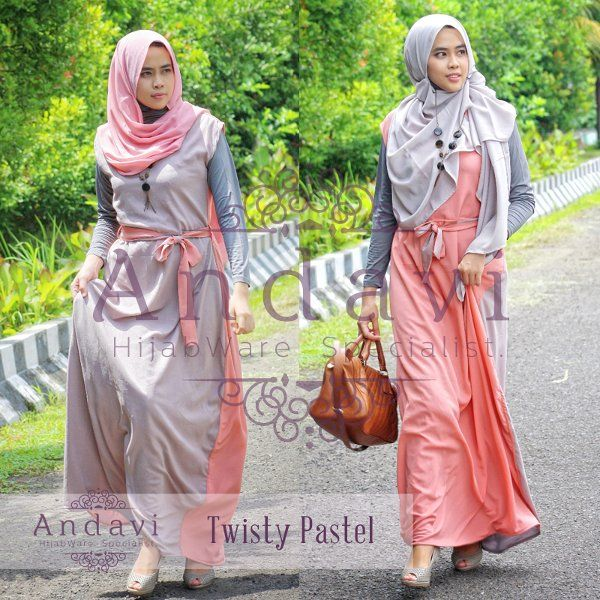 Model Dress Muslimah Remaja Modern 2 Sisi