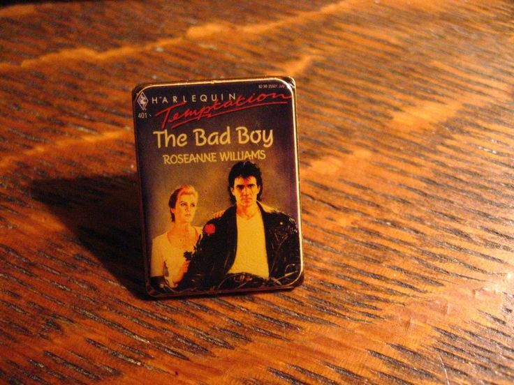 Harlequin Romance Book Lapel Pin - Vintage 1992 Roseanne Williams The Bad Boy #HarlequinRomance