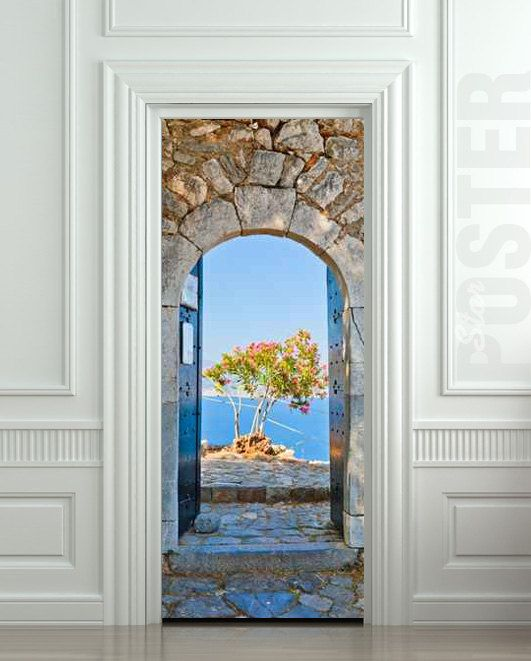 GIANT Door Wall STICKER greece greek arch decole film by Pulaton, $29.99