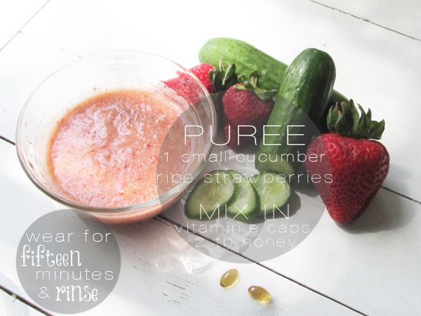 Make Your Own:: Summer Strawberry (& cucumber!) Face Mask