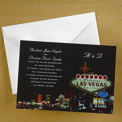 Las Vegas Wedding Online 9 Best Las Vegas Wedding Invitations Images On Pinterest