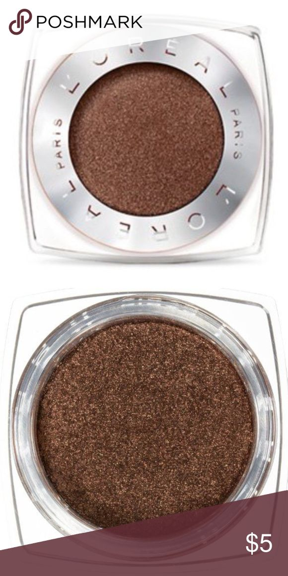 Brand New L'Oréal Paris Infallible 24HR Eyeshadow Brand New L'Oréal Paris Infallible 24HR Single Eyeshadow (currently retailing for $8) in the shade '800 - Bottomless Java' ... only ever swatched!  -Intense, maximized color -Luxurious powder-cream texture -24-hour long-lasting hold -Waterproof, crease resistant, fade resistant L'Oreal Makeup Eyeshadow
