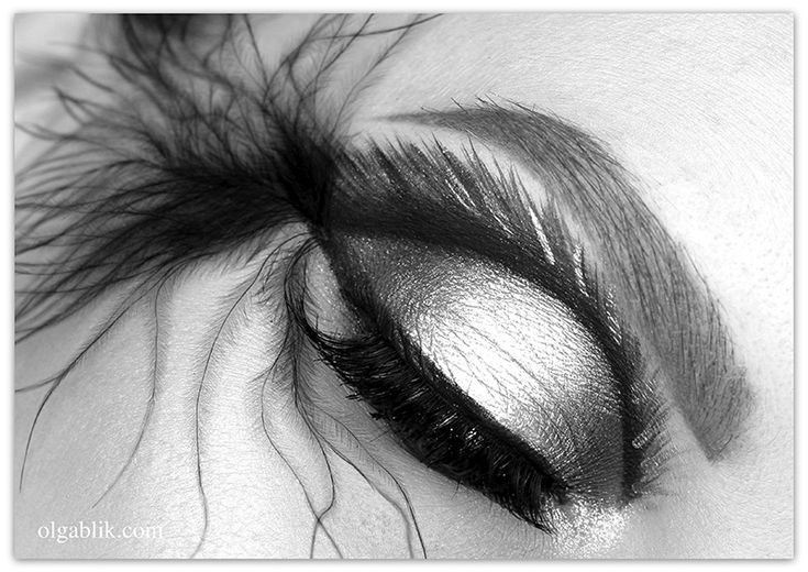 Makeup Look with feathers