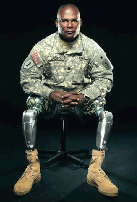 """Double leg amputee and Commander of Fort Belvoir, Army Colonel Greg Gadson:  """"When I see folks with new injuries I tell them: I know it's hard, but the fact is that you're talking to me and the worst of it is over if you want it to be. And be grateful. You're alive."""" (http://on.natgeo.com/ZdvIKT)  We are honored to have served COL Gadson and to have had him as our distinguished speaker last week in New York. Photo by Mark Thiessen"""