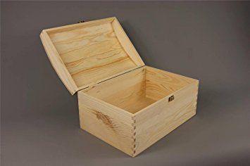 XXL EXTRA LARGE TREASURE CHEST PLAIN WOODEN BOX WOOD KEEPSAKE MEMORY GIFT BOX DECOUPAGE CRAFT ART by Decocraft