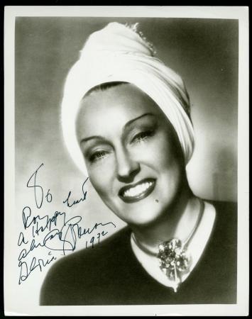Gloria Swanson signed 1972