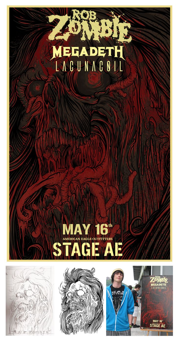 Rob Zombie / Stage AE- Poster on Behance