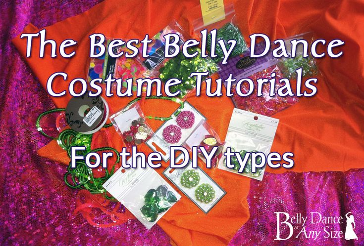 These are the best belly dance costume tutorials from Belly Dance at Any Size.