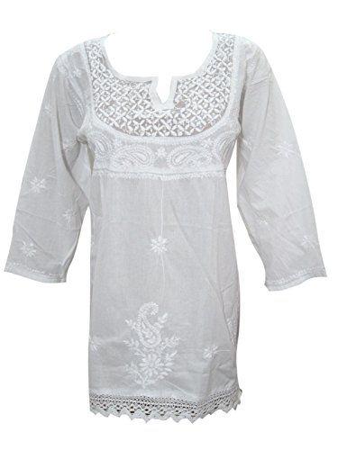 Womens White Tunic Dress Cotton Floral Hand Embroidered B... https://www.amazon.ca/dp/B01MR9BISG/ref=cm_sw_r_pi_dp_x_dppRzbFY32Z6C  #TUNIC #BOHO #FASHION #HIPPIE #SALE #WHITE #GIFT #BOHOHIPPIE #GIFTFORHER