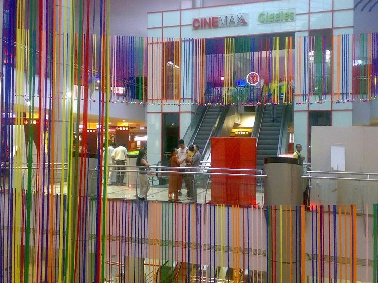 Ribbon decor in the atrium