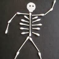 Klinkers in Beeld: Skelet van wattenstaafjes
