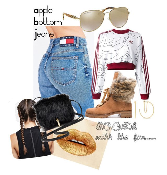 RnB Live Style by tazandtai on Polyvore featuring adidas Originals, Tommy Hilfiger, Alexandre Birman, Elizabeth and James, BCBGeneration and Michael Kors