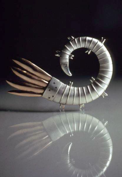 Sarah Parker-Eaton silver and red gold brooch